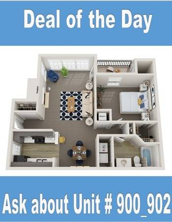 Beautiful UPGRADED One Bedroom/ One Bath Available NOW! $500 off first full month.