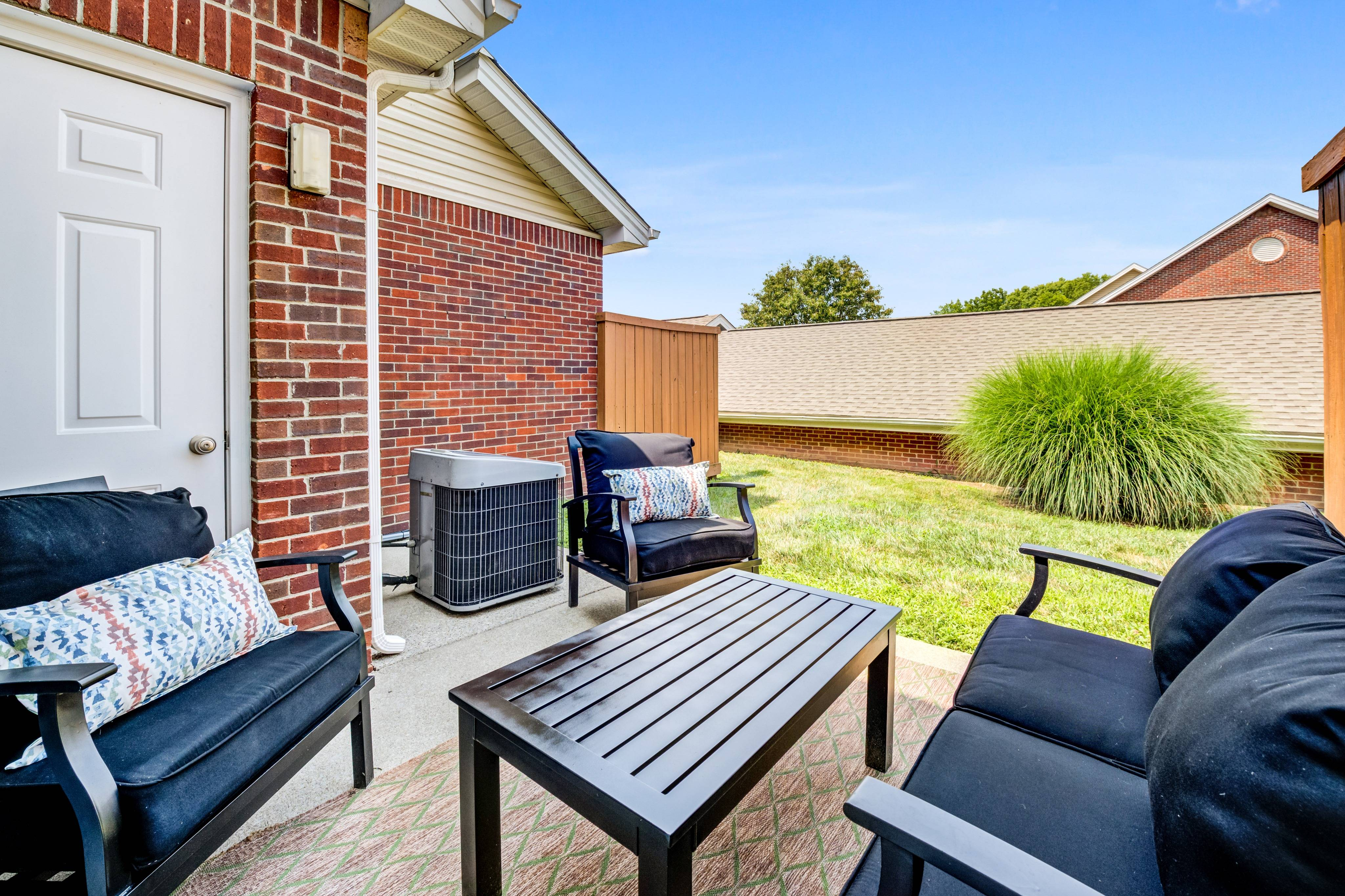 Private Patio with Yard