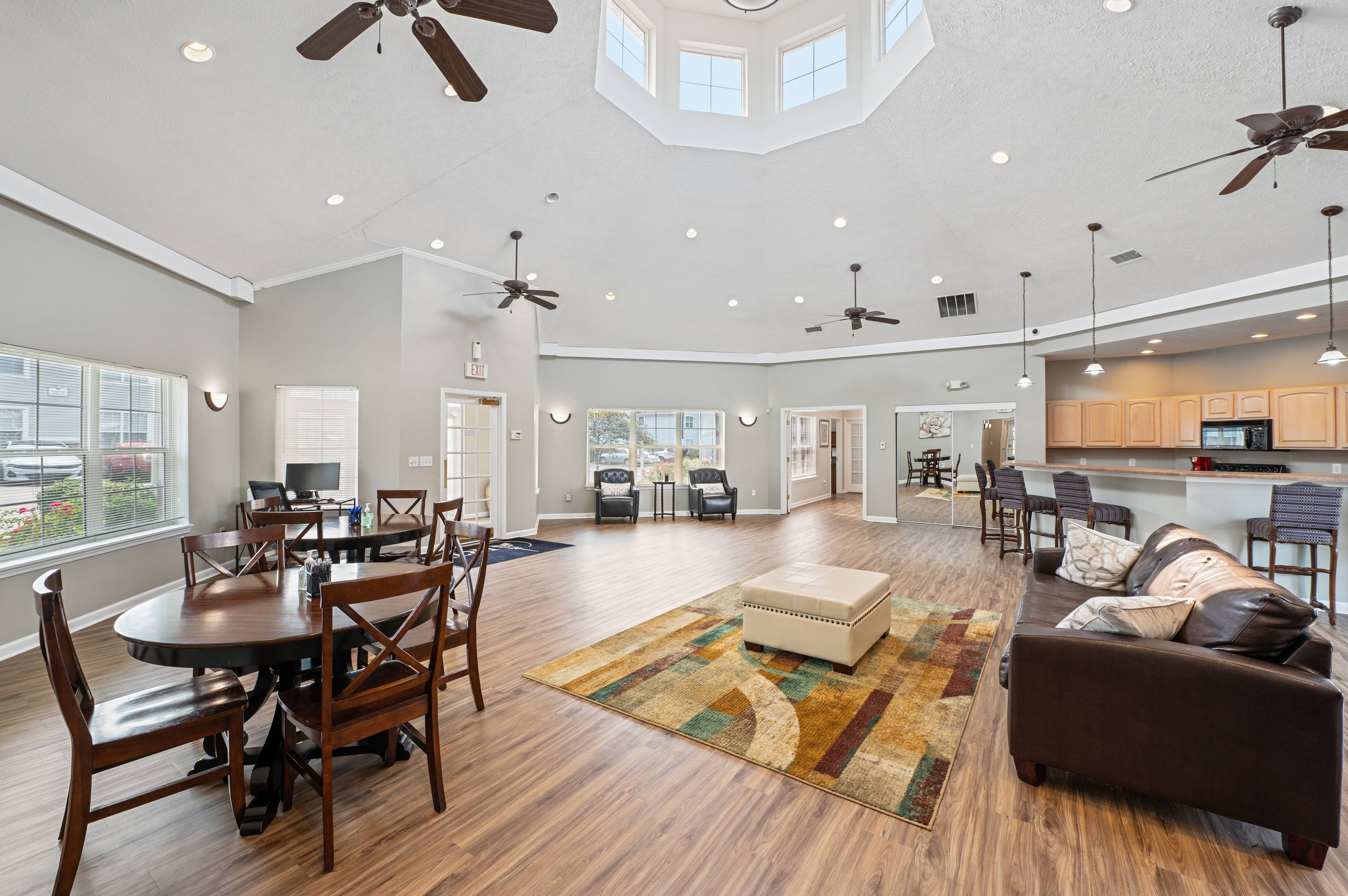 Clubhouse with Kitchen & Fireplace